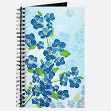 Forget Me Not Flowers Journal