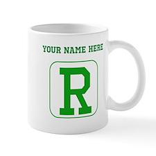 Custom Green Block Letter R Mugs