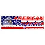 American Infidel Political Bumper Sticker