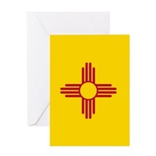New Mexico State Flag Greeting Cards