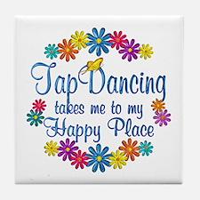 Tap Dancing Happy Place Tile Coaster