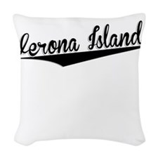 Verona Island, Retro, Woven Throw Pillow