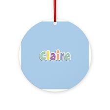 Claire Ornament (Round)