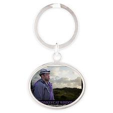 MonkeyCatWisdom#1 Oval Keychain