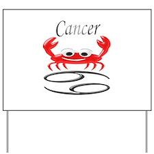 Star Sign Cancer Yard Sign
