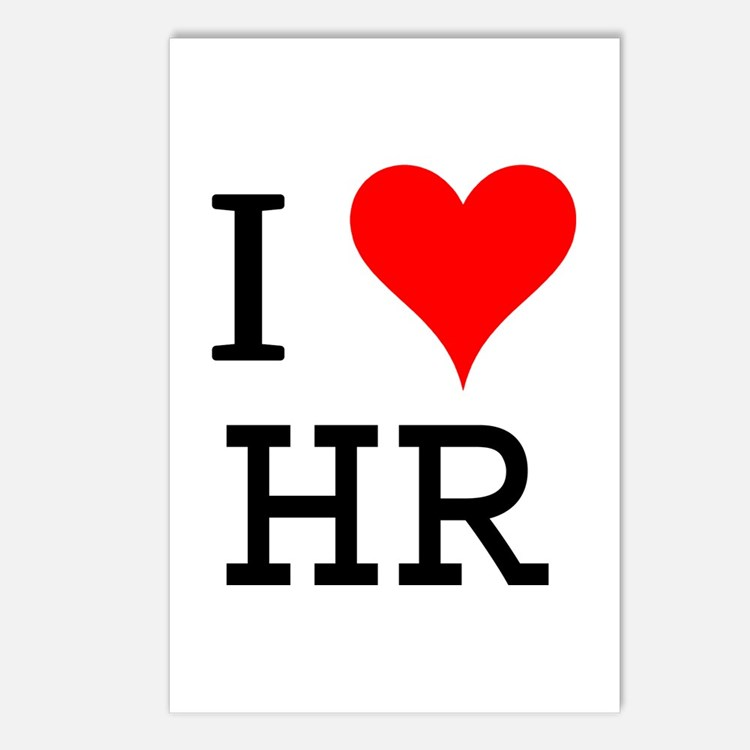 I Love HR Postcards (Package of 8)