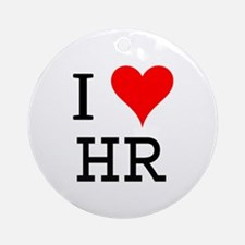 I Love HR Ornament (Round)
