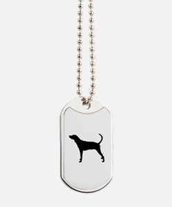 Coonhound Silhouette Dog Tags