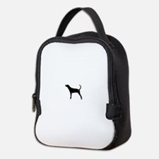 Coonhound Silhouette Neoprene Lunch Bag