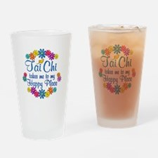 Tai Chi Happy Place Drinking Glass