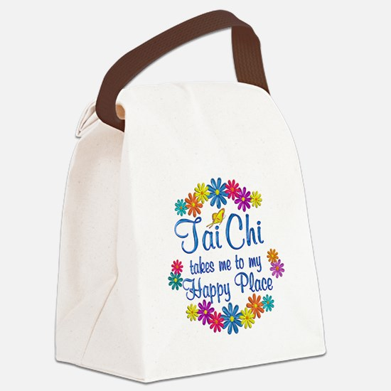 Tai Chi Happy Place Canvas Lunch Bag