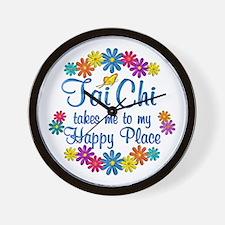 Tai Chi Happy Place Wall Clock