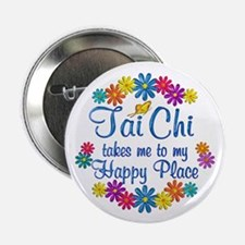 "Tai Chi Happy Place 2.25"" Button (100 pack)"