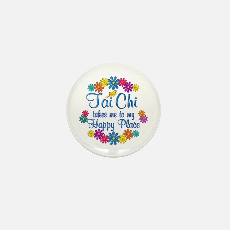 Tai Chi Happy Place Mini Button
