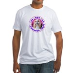 Sit Stay Wag Cavalier Style Fitted T-Shirt