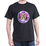 Sit Stay Wag Cavalier Style Dark T-Shirt