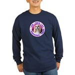 Sit Stay Wag Cavalier Sty Long Sleeve Dark T-Shirt