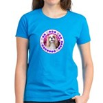 Sit Stay Wag Cavalier Style Women's Dark T-Shirt