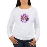 Sit Stay Wag Cavalier Women's Long Sleeve T-Shirt