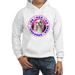 Sit Stay Wag Cavalier Style Hooded Sweatshirt