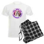 Sit Stay Wag Cavalier Style Men's Light Pajamas