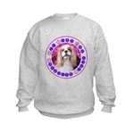 Sit Stay Wag Cavalier Style Kids Sweatshirt