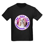 Sit Stay Wag Cavalier Style Kids Dark T-Shirt