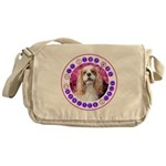 Sit Stay Wag Cavalier Style Messenger Bag
