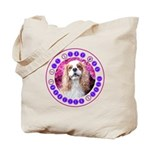 Sit Stay Wag Cavalier Style Tote Bag
