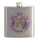 Sit Stay Wag Cavalier Style Flask