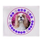 Sit Stay Wag Cavalier Style Throw Blanket
