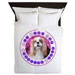 Sit Stay Wag Cavalier Style Queen Duvet