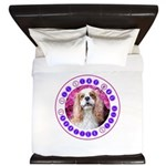 Sit Stay Wag Cavalier Style King Duvet