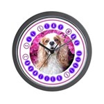 Sit Stay Wag Cavalier Style Wall Clock