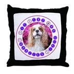 Sit Stay Wag Cavalier Style Throw Pillow