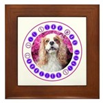 Sit Stay Wag Cavalier Style Framed Tile