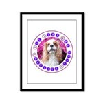 Sit Stay Wag Cavalier Style Framed Panel Print