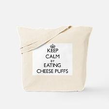 Keep calm by eating Cheese Puffs Tote Bag