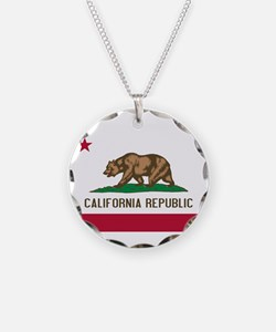STATE FLAG : california Necklace