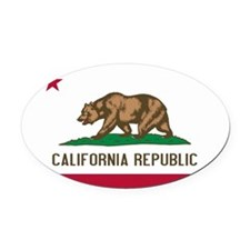 STATE FLAG : california Oval Car Magnet