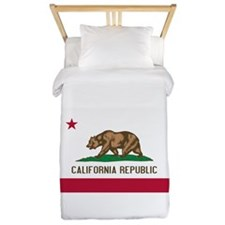 STATE FLAG : california Twin Duvet