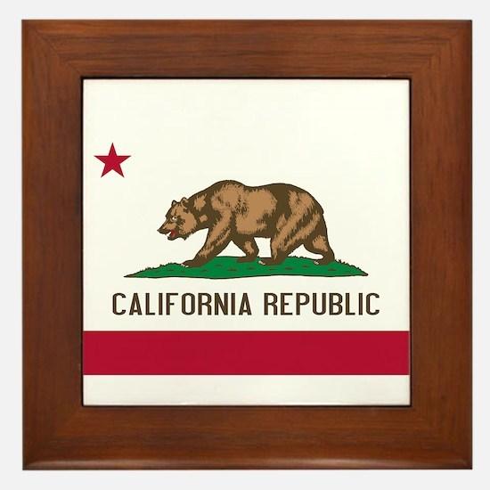 STATE FLAG : california Framed Tile