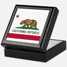 STATE FLAG : california Keepsake Box