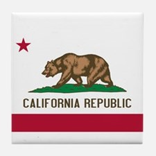 STATE FLAG : california Tile Coaster