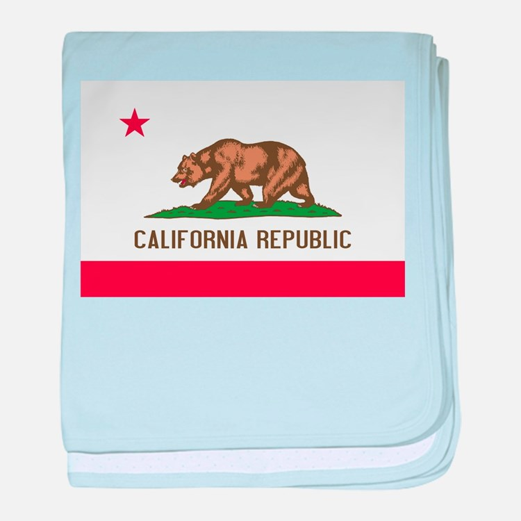 STATE FLAG : california baby blanket