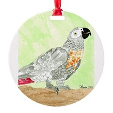 Daily Doodle 3 African Gray Cisco Ornament