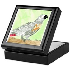 Daily Doodle 3 African Gray Cisco Keepsake Box