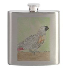 Daily Doodle 3 African Gray Cisco Flask