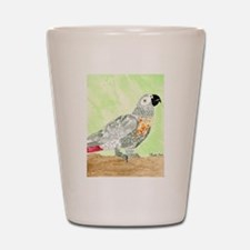 Daily Doodle 3 African Gray Cisco Shot Glass