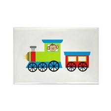 Monkey Driving a Train Magnets